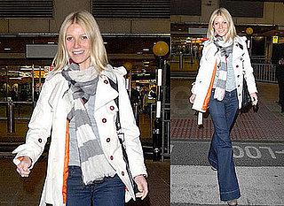 Gwyneth Paltrow Lands in Heathrow Airport