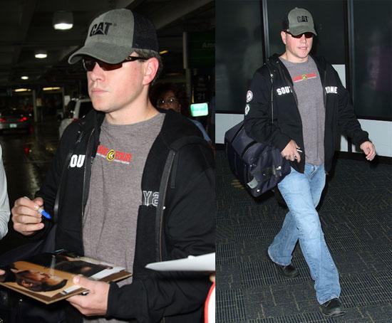 Photos of Matt Damon at the Miami Airport