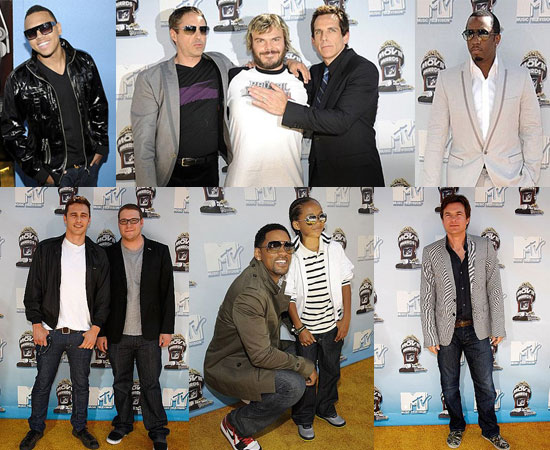 Images of the Men at the MTV Movie Awards
