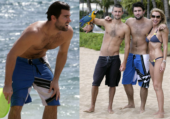 Photos of Shirtless Brody Jenner on Beach in Maui with Girlfriend and Family