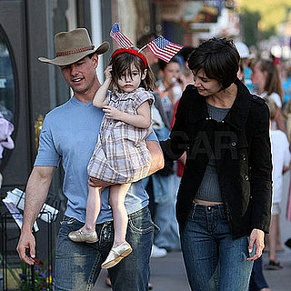 Tom Cruise, Katie Holmes and Suri on the Fourth of July