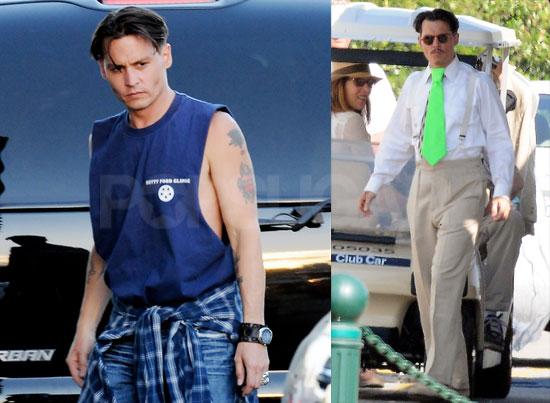 Photos of Johnny Depp on the Set of Public Enemies