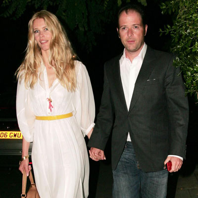 Claudia Schiffer and Matthew Vaughn at Uma Thurman's Engagement Party