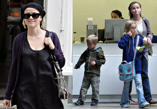 Photos of Reese Witherspoon in London with Ava and Deacon