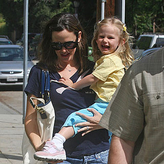 Violet Affleck and Jennifer Garner in LA