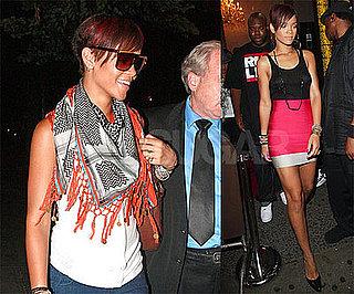 Photos of Rihanna in Sheer Black Shirt in NYC