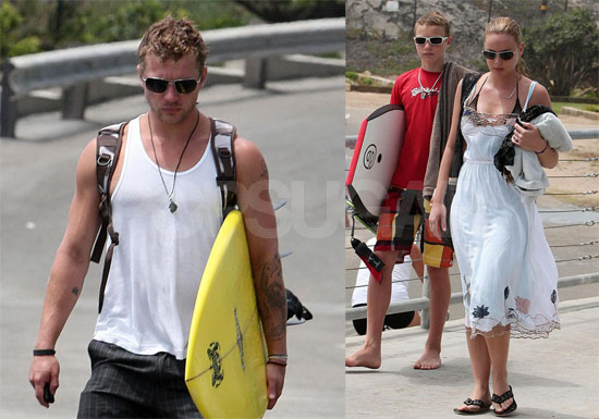 Photos of Ryan Phillippe and Abbie Cornish With Surfboards