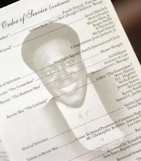Photo of Bernie Mac's Memorial Service Program