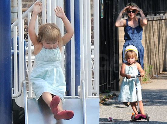 Photos of Michelle Williams and Matilda Ledger at the Park in New York City