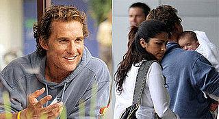 Levi McConaughey Gets Some Shut Eye on Daddy's Shoulder