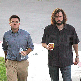 Jason Bateman and Ben Affleck on the set of Extract