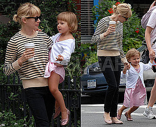 Michelle Holds on Tight to Her Adorable Girly Matilda