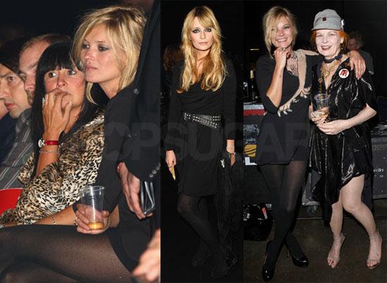 Photos of Kate Moss, Mischa Barton, Dita Von Teese, Pamela Anderson at Vivienne Westwood's Show