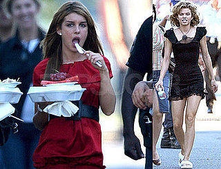 Photos of Shenae Grimes, AnnLynne McCord, Jessica Stroup on the Set of 90210