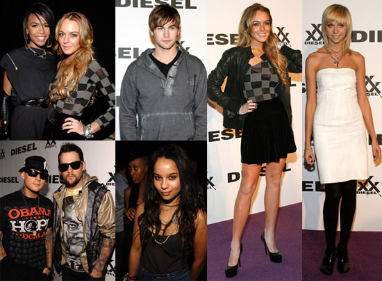 Photos from Diesel Rock & Roll Circus Party Including Pregnant MIA, Paris Hilton, Lindsay Lohan, Taylor Momsen and More