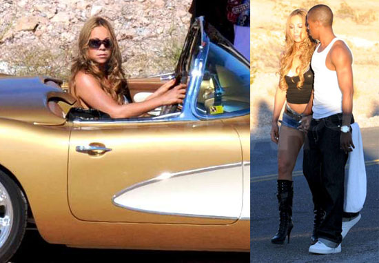 "Photos of Mariah Carey and Nick Cannon Filming ""I Stay in Love"" in Las Vegas"