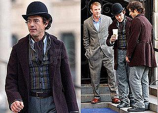 Photos of Robert Downey Jr. on the Set of Sherlock Holmes in London