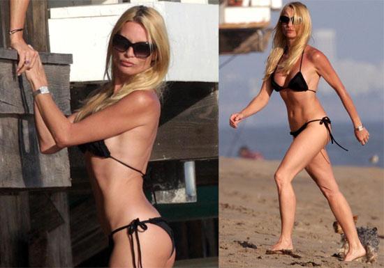 Photos of Nicollette Sheridan in a Bikini on Malibu Beach
