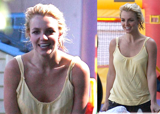 Photos of Britney Spears Picking Up Sean Preston From School
