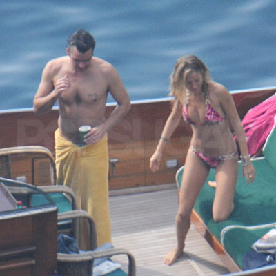 Sienna Miller and Balthazar Getty In Positano