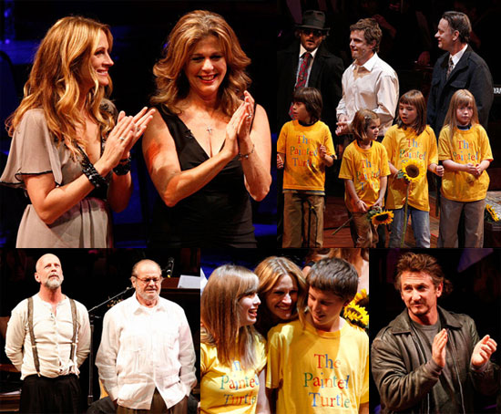 Photos of Julia Roberts, Casey Affleck, Bruce Willis, Tom Hanks, Jack Nicholson at a Reading of The World of Nick Adams