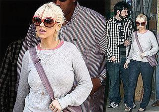 Photos of Christina Aguilera and Jordan Bratman Shopping on Election Day