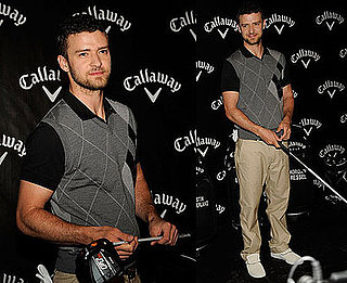 Photos of Justin Timberlake at the Launch of Callaway Golf's new club in NYC