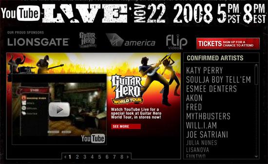 YouTube Live Event on November 22