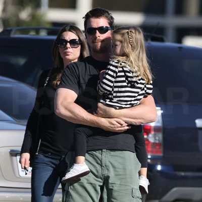 Christian Bale, Sibi Blazic and Emmeline Bale Out in LA