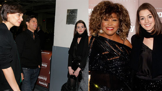 Photos of Tom Cruise, Katie Holmes, Anne Hathaway, Molly Sims at Tina Turner Concert