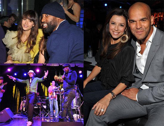 Photos of Jessica Alba and Eva Longoria at the Conga Room in LA