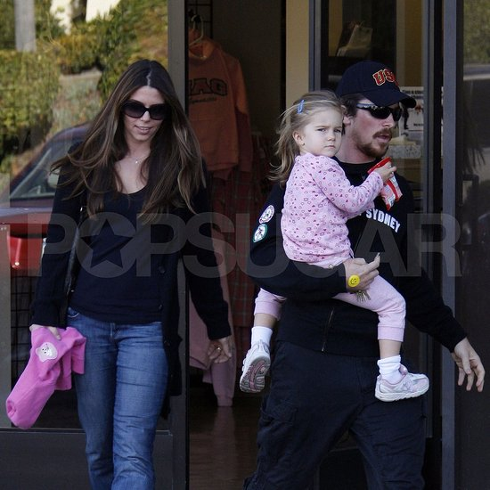 Christian Bale, Sibi Blazic and their Daughter Out in LA