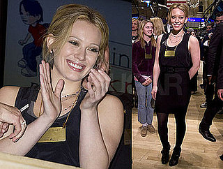 Hilary Duff Goes to the New York Stock Exchange For Blessings in a Backpack