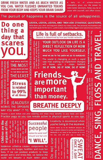 Get Motivated: Lululemon Manifesto