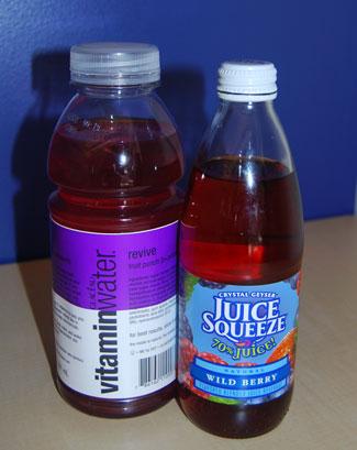 Berry Juice Squeeze vs. Vitamin Water