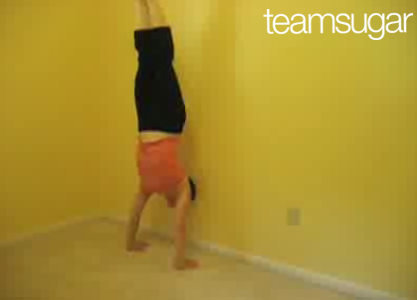 Home Work: Wall Handstand