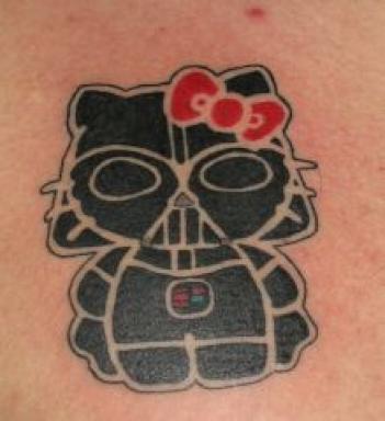 Darth Vader + Hello Kitty = Best Tattoo Ever