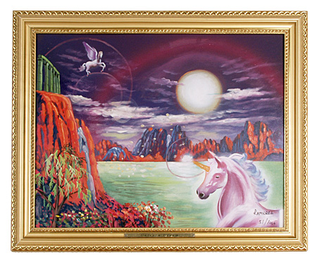Product of the Day: Unicorn Oil Painting