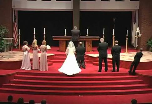 Groomsman Falls Over at Wedding