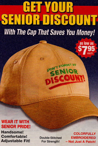 Product of the Day: Senior Discount Hat