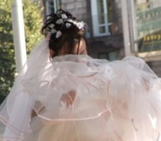 Wind Blows Up Wedding Skirt