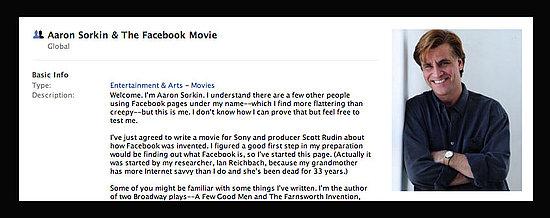 Aaron Sorkin Joins Facebook to Write Facebook Movie