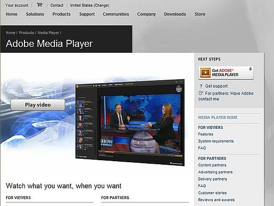 Adobe Launces A New Media Player