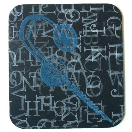 Too Cool For School: Headphones Mouse Pad