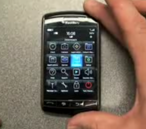 The BlackBerry Storm Up Close and Fully-Functional