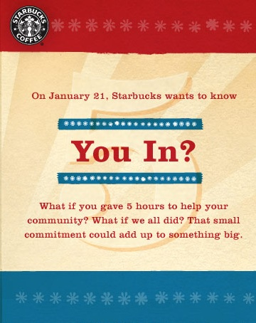 Give Back and Get Free Starbucks Coffee