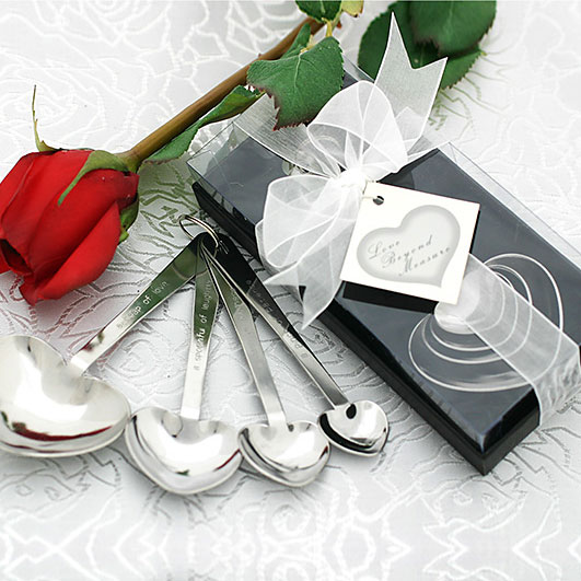 """Show them that your love is """"beyond measure"""" with these heart-shaped measuring spoons."""