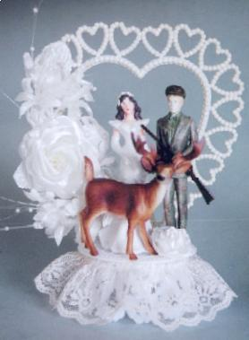 Nothing says I love you like a cute deer who's about to get himself shot on your wedding cake.