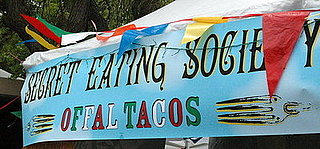 Secret Eating Society's Offal Tacos at Maker Faire