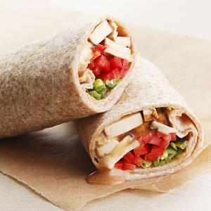Monday's Leftovers: Peanut Tofu Wrap